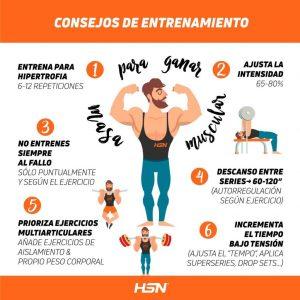 Cómo entrenar para aumentar la masa muscular