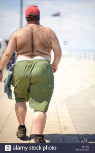 El Hombre Gordo Caminando Cruza los EE.UU.