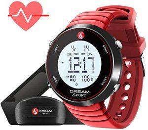 El reloj Sportline Duo 1060 puede registrar su ritmo cardíaco de dos maneras