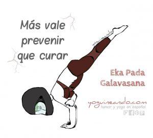Pose de cuervo volador (Eka Pada Galavasana) en el Yoga
