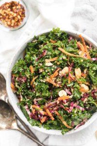 Ensalada de cítricos, col rizada y quinoa sin gluten