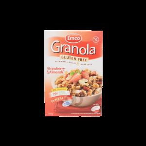 Granola de fresa sin granos