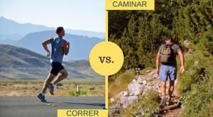 La diferencia entre la caminata rápida, la caminata de carrera y la caminata de poder