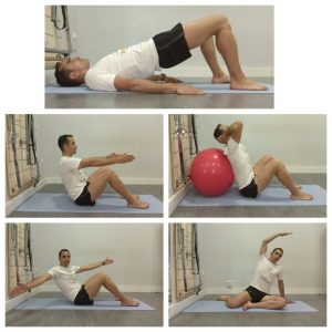 La inclinación de la cabeza de Pilates es el primer movimiento de muchos ejercicios de Pilates