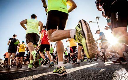 Photo of Llegar a la meta en el día de la carrera de maratón