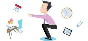 Prevenir los riesgos para la salud de estar sentado usando un escritorio de cinta rodante