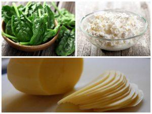 Tazón de espinacas saladas y avena feta